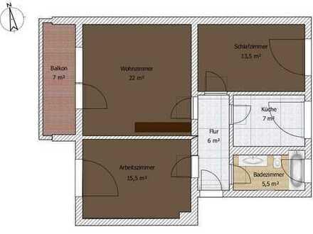 Zündorf, Groovnähe, 3 Zimmer Wohnung, 71m²