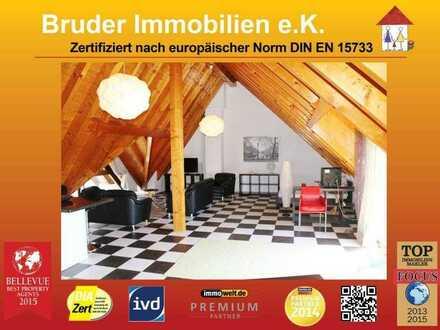 Walldorf: riesiges 85qm 1-Zimmer-Dachgeschoss, über den Dächern von Walldorf im Zentrum, möbliert