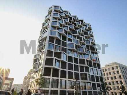 Luxus-Apartment im Friends Tower: Gehobene 1,5-Zi.-ETW mit traumhaftem Alpenblick