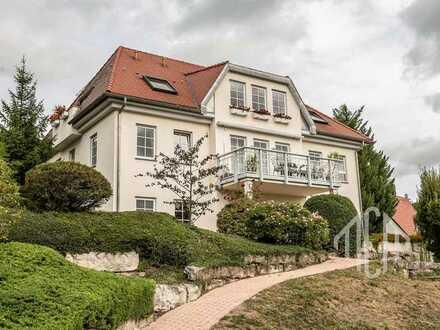 Exklusiver Wohnkomfort mit traumhaftem Ausblick: Repräsentative Villa mit 3 WE und schönem Garten
