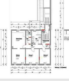 Erstbezug nach Sanierung! Attraktive 3 Zimmer Stadtwohnung mit großer Wohnküche!