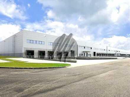 NEUBAU ✓ RAMPE + EBEN ✓ Lager-/Logistikflächen (4.600 m²) & Büroflächen (1.000 m²) zu vermieten