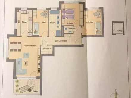 4,5-Zimmer-Neubauwohnung mit EBK und großem Balkon