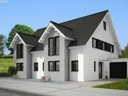 Schicke und schlüsselfertige Doppelhaushälfte auf der grünen Wiese gebaut, individuell planbar!