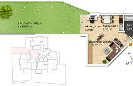 !!Kapitalanleger!! 1-Zimmer Raumwunder mit Garten