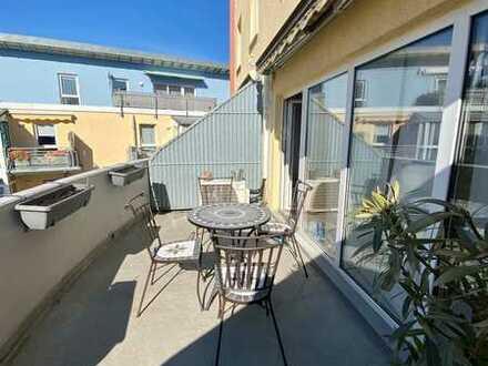 Sonnendurchflutete zentrumsnah gelegene Maisonette Wohnung mit zwei Balkonen in Bensheim