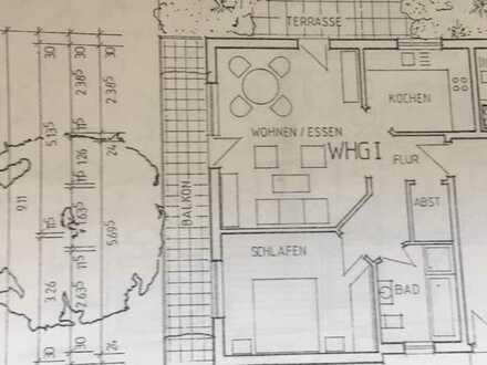 Gepflegte 2-Zimmer-Wohnung mit Einbauküche, Balkon und Garage