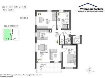 3-Zimmer-Wohnung in Illertissen / Au im 1. Obergeschoß