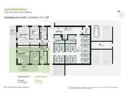 A.02 - 2 Zimmerwohnung im Sockelgeschoss mit SW-Ausrichtung - HAUS WIESENQUELLE Feldberg