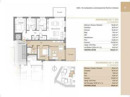 2-Zimmerwohnung mit Balkon und Lift (Whg 34)