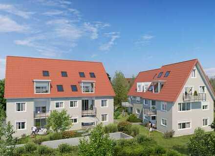 Gut geschnittene 2-Zimmer-Neubauwohnung im EG mit eigenem Garten