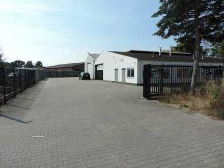 Produktionshalle, Lagerhalle, Büro, Sanitär, Abgezäunt, Beheizbar, Freifläche