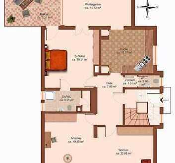 Repräsentative 3 Z -Wohnung mit Wintergarten + Balkon