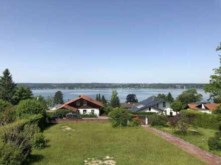 Traumlage in Breitbrunn am Ammersee!! Grundstück mit Baugenehmigung für Bauhausvilla !!!