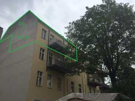 Tempelhof - Individuell Wohnen/Arbeiten mit Dachterrasse und Balkon auf zwei Etagen