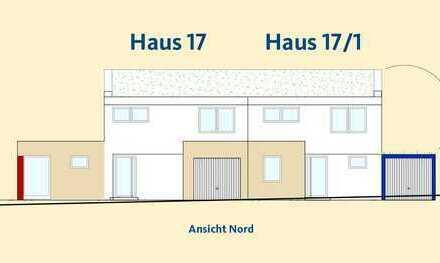 Doppelhaushälfte mit moderner Architektur und kompakten Grundrissen