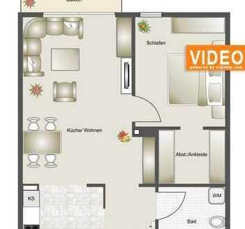 sonnige 2-Raum-Wohnung mit Balkon in Zinnowitz