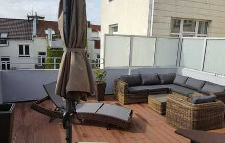 Große, moderne 3 Zimmer Dachterrassenwohnung mitten am Delmemarkt in der Bremer Neustadt!