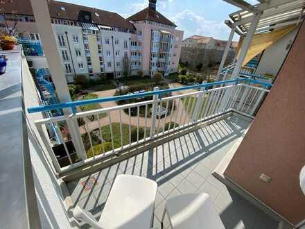 Möblierte 1-Zi-Whg mit Balkon und Einbauküche in Erlangen