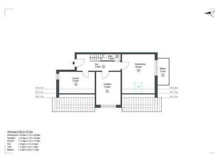 Erstbezug: stilvolle 3,5-Zimmer-DG-Wohnung mit Balkon in Pfedelbach