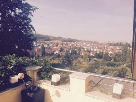 Wohnen in bester Lage von Flein im 2 Familienhaus mit Fernsicht- 18 m² Balkon