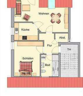 2-Zimmer-Eigentumswohnung im Dachgeschoss mit Balkon in Dorsten-Rhade