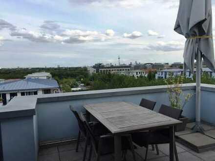 Exklusive 4-Zimmer-Penthouse-Wohnung mit umlaufender Dachterrasse, Einbauküche in Frankfurt/Riedberg