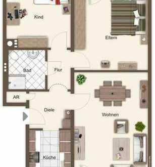 Schöne, modernisierte Wohnung (3-Zi-Kü-Bad) in Kirchberg zu vermieten