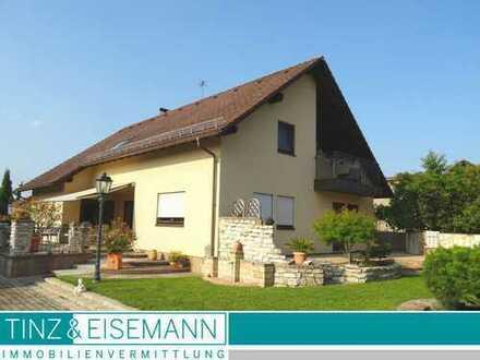Hochwertig ausgestattetes Wohnhaus mit Gewerbehalle, Büroräumen und Garagengebäude in Philippsburg