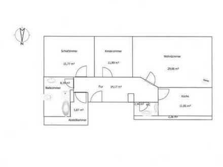 Erstbezug nach Sanierung: ansprechende 3,5-Zimmer-auf 100qm