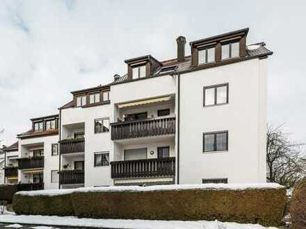 Gemütliche Familienwohnung mit zwei Dachzimmern in Steppach