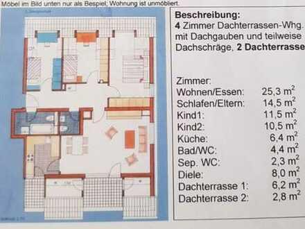 4 Zimmer Dachterrasse-Whg mit Tg Stellplatz