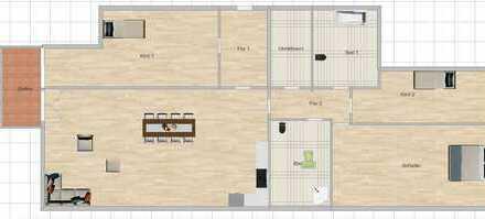 Erstbezug: Sanierte 3,5-Zimmer-Wohnung mit Balkon und Einbauküche