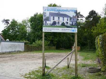 BAUGRUNDSTÜCK mit geplanter Neubau Doppelhaushälfte (KfW 55)