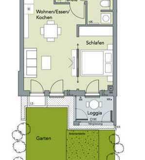 Erstbezug: Neubau 1,5-Zimmer-Wohnung; EBK, Terasse, Loggia und TG-Stpl.; Alt-Riem, München