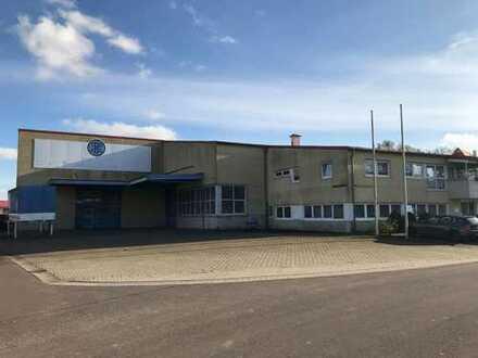 Gewerbeareal mit Tankstelle und Lagerhalle 2318 m²