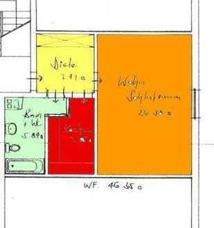 Nur für 1 Person: Großzügiges 1 1/2-Zimmer Appartement mit Einbauküche