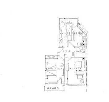 sonnige 2,5 ZKB mit 2 Balkonen in ruhiger und zentraler Lage