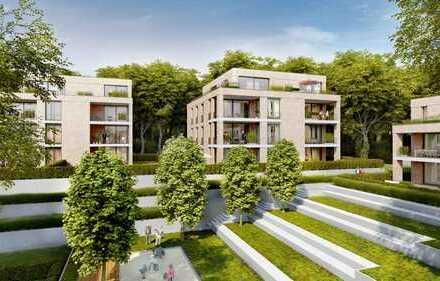 Erstbezug- 3 Zimmer-Wohnung mit großer Außenterrasse, hochwertiger Einbauküche und eigenem Garten