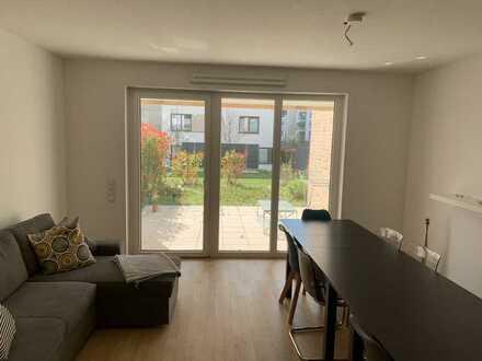 Stilvolle, neuwertige 3-Zimmer-Wohnung mit Terrasse und eigenem Garten in Mannheim Lindenhof