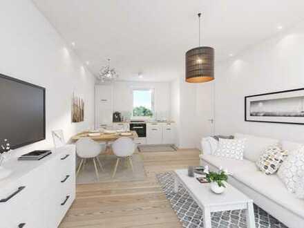 Zwei Zimmer Erdgeschosswohnung mit ca. 70 m² Gartenanteil - Neubau