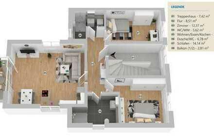 Moderne, großzügige 3-Zimmer Neubauwohnung in zentraler Lage und kleiner Einheit