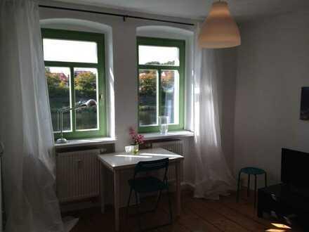 Sehr schöne, helle Wohnung,voll möbliert und ausgestattet am Fluß Regen