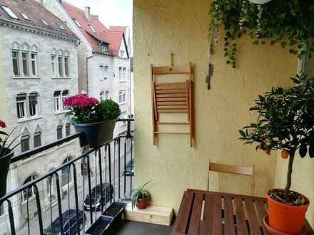 4 Zimmer Stuttgart West Parkett, Balkon & zwei Bäder