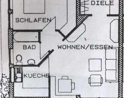 gepflegte helle freundliche 2 Zimmer Wohnung