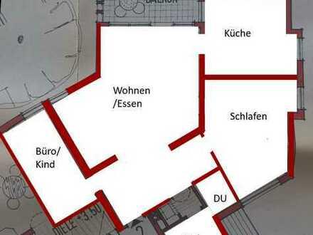 Außergewöhnliche, großzügige 3-Raum-Wohnung in Erlenbach a. Main