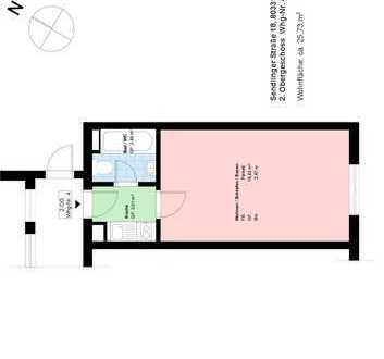 *Zentrum*Teilsanierung*möbliertes Apartment*Küche mit EBK*Bad/WC mit Wanne*Kellerabteil*
