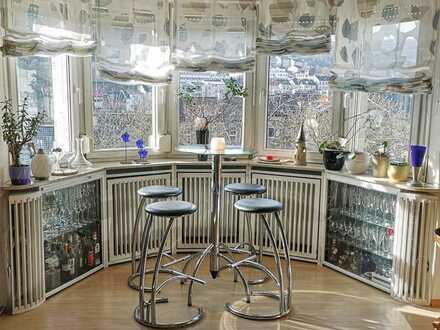 Gepflegte 5-Zimmer-Maisonette-Wohnung mit Balkon und Einbauküche in Bingen am Rhein