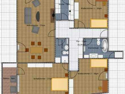 Neuwertige 4-Zimmer-DG-Wohnung mit Balkon und Einbauküche in Baden-Baden