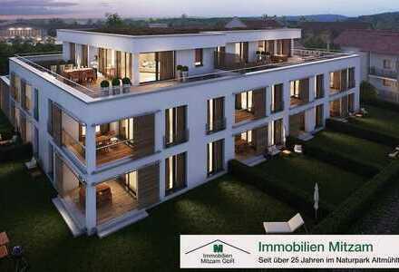 Wohncarré SULZPARK: Neubau 2-Zimmer-Erdgeschoss-Wohnung in Traumlage von Beilngries (provisionsfrei)